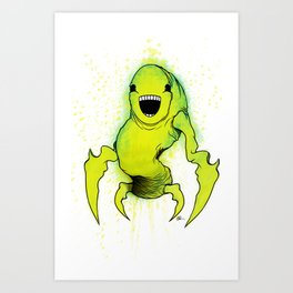 Smiling Mantis Art Print