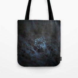 Real snowflake macro photo - The core Tote Bag