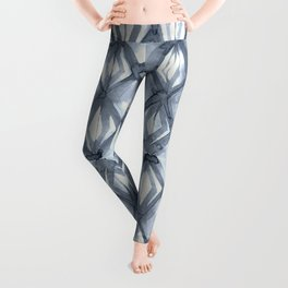Braided Diamond Indigo Blue on Lunar Gray Leggings