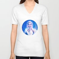 frozen elsa V-neck T-shirts featuring Elsa by Joe Roberts