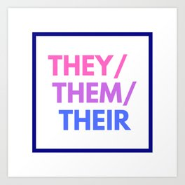 Bisexual Nonbinary Pride Art Print