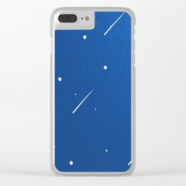 Shooting Stars in a Clear Blue Sky Clear iPhone Case