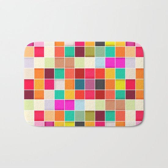 Colorful Rectangles Bath Mat