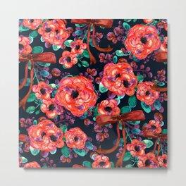 Watercolor Rustic  floral vintage Metal Print