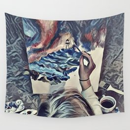 The Universe Inside My Head (Overhead) Wall Tapestry