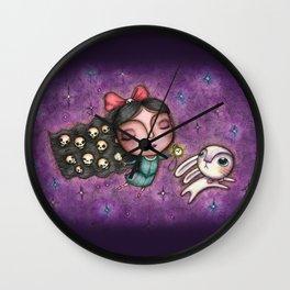 Black Hair Alice Wall Clock