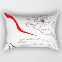 Let There Be Dragons Rectangular Pillow