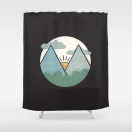 Alphabet Drop Caps Series- M Shower Curtain