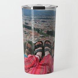 Sandals above the city Travel Mug