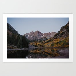 Maroon Bells in Autumn Art Print