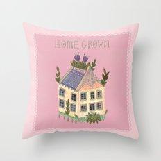 Home Grown Throw Pillow