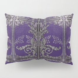 Blue and Silver Thistles Pillow Sham