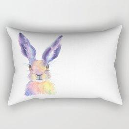 Rainbow Hare Rectangular Pillow