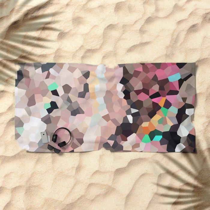 Pink Moon Love Beach Towel