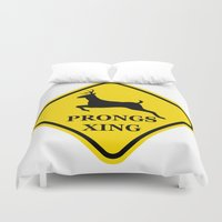 marauders Duvet Covers featuring prongs xing by Nissa Avery