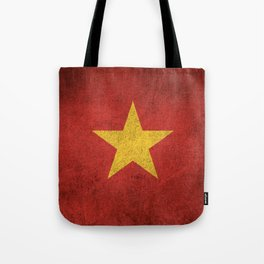Old and Worn Distressed Vintage Flag of Vietnam Tote Bag