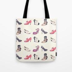 Vintage Shoes Pattern Tote Bag