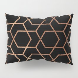 Geometric gold & black Pillow Sham