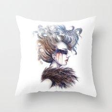 Blind // Fashion Illustration Throw Pillow
