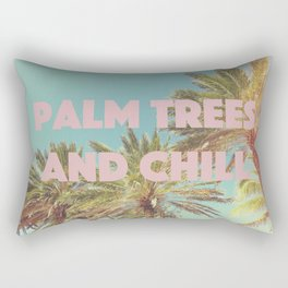 Palm Trees and Chill Rectangular Pillow