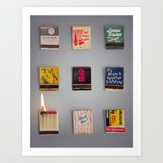 Play with matches Art Print