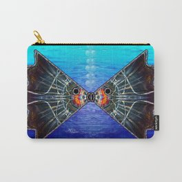 Fishies in Love, Kissing Fishes, Scanography Art Carry-All Pouch