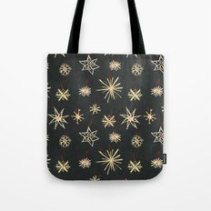 Black Stars Tote Bag