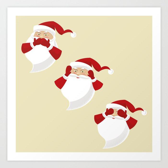 The Three Wise Santas Art Print