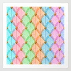 Colored Leaf Skeleton Pattern Art Print