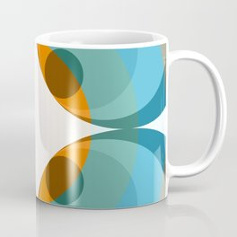 Abstract Retro Flower Cockatrice Coffee Mug