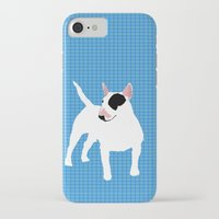 bull terrier iPhone & iPod Cases featuring English Bull Terrier by ialbert