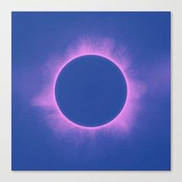 Solar Eclipse in Purple Color Canvas Print