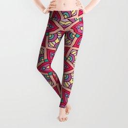 Kaleidoscopic Kente Leggings
