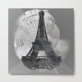 Grey Day in Paris Metal Print
