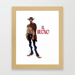 Il buono. The good, the bad and the ugly Framed Art Print