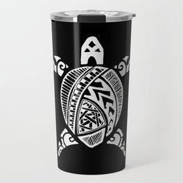 White abstract turtle Travel Mug