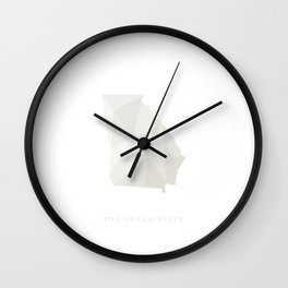 Georgia, The Peach State Wall Clock