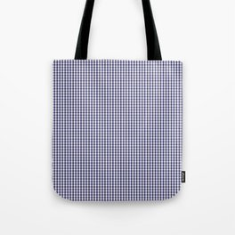 USA Flag Blue and White Gingham Checked Tote Bag