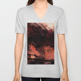 Magnificent Valiant Knight Dueling Giant Fearsome Angry Fantasy Dragon Ultra HD  Unisex V-Neck