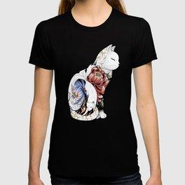 Kitsune Cat Tattoo T-shirt