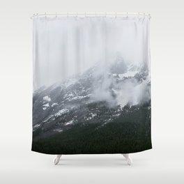 Mountains Landscape Photography | Maligne Lake Alberta Shower Curtain