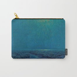 Coast of Tuscany, Italy under a Blue Moon landscape painting by Granville Redmond Carry-All Pouch