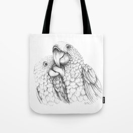 Macaw Pair In Love Tote Bag