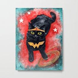 Wonder Kitten Metal Print