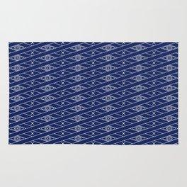 Rhombus Blue Rug