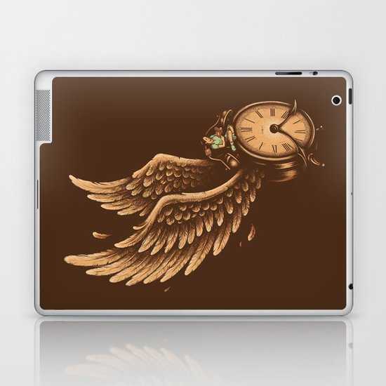 Time Flies Laptop & iPad Skin