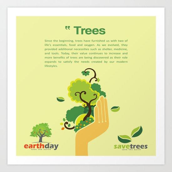 Save Trees Art Print