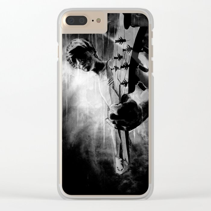 The GUITAR GOD - black version Clear iPhone Case
