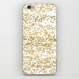 Chic Glam Confetti Dots iPhone Skin