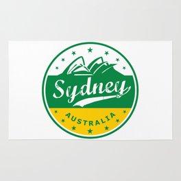 Sydney City, Australia, circle, green yellow Rug